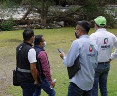 RECORRIDO A ZONAS AFECTADAS POR DESORDAMIENTO DE RÍO