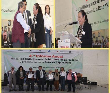 Tercer informe red hidalguense municipios por la salud