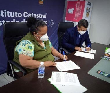FIRMA DE CONVENIO EN MATERIA DE CATASTRO